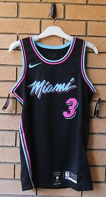 low priced 8ecc2 fd6f7 BNWT MIAMI VICE Heat Dwyane Wade Nike Men's City Edition Nba Jersey Medium  44