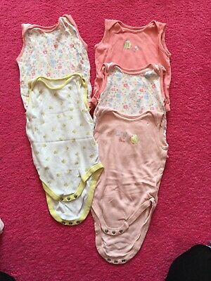5 Mothercare Girls Body Tops 12-18 Months