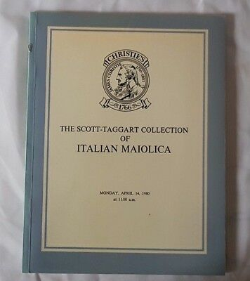 Christies Catalogue The Scott Taggart Collection Of Italian Maiolica Apr 80