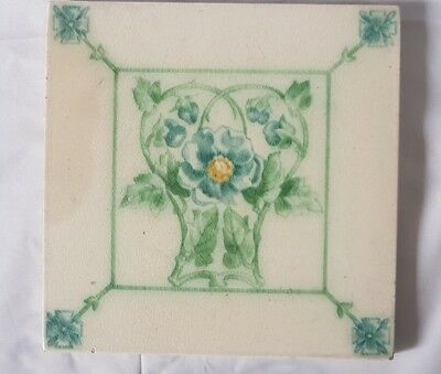 Pilkington English Art Nouveau Floral Antique Tile.