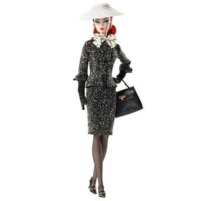 Barbie SILKSTONE BLACK AND WHITE TWEED INDEED  by Robert Best  2017 New And NRFB