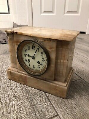 ANTIQUE CLOCK Medaille DArgent Vincent Marble For Parts Or Repair