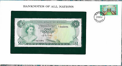 Banknotes of All Nations Bahamas 1 dollar 1974 UNC P35a Prefix K/1 Donaldson