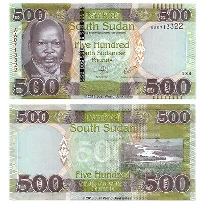 South Sudan 500 Pounds 2018 P-New First Prefix 'AA' Banknotes UNC