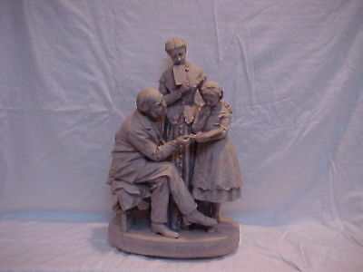 "John Rogers Group of Statuary ""SCHOOL EXAMINATION   (for the teacher)"