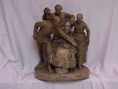 John Rogers Group of Statuary 'FROLIC AT THE OLD HOMESTEAD' family good times