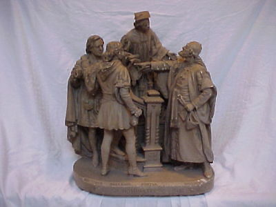 John Rogers Group of Statuary 'IS IT SO NOMINATED IN THE BOND?' shakespeare