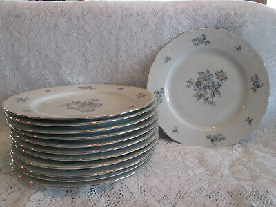 Fine Bohemian China made in czechoslovakia wild flower set of 12 plates