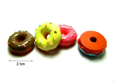 4 Dollhouse Miniature Kitchen Food Doughnut Bakery Cake Dessert Donut 1/6 Decor