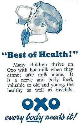 OXO Advert - Original Pre-War 1932