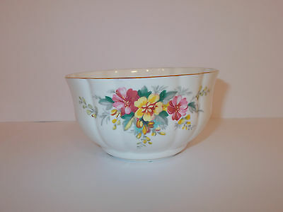Windsor Bone China Shaped Sugar Bowl with Floral Design Lovely