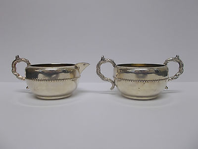 Viking Plate Sugar Bowl and Milk Jug E.P. Copper with Lead Mounts Canada  Lovely