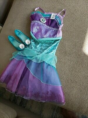 3849c70808ff2 Disney Store Princess Little Mermaid Ariel Halloween Costume Dress sz 4 +  Shoes