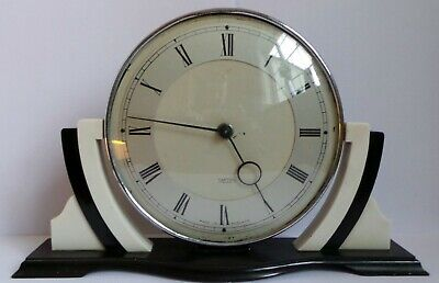 RARE 1930's ART DECO BAKELITE SMITHS MANTLE CLOCK - GOOD WORKING ORDER