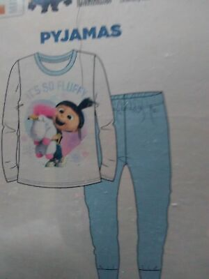 Girls Despicable Me Pyjamas Size 7-8 Years Agnes Unicorn Minions