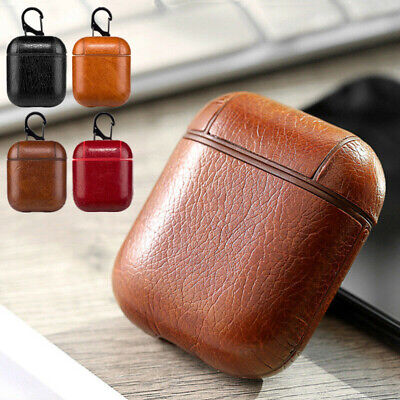 Leather Case Protect Skin Cover Holder Bag For Apple AirPods Earphone Accessorie