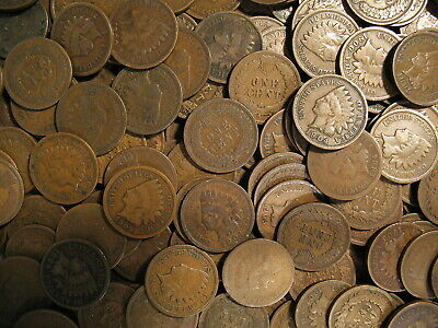 @ Large Collection Of Indian Head Cent Penny Coins 1858-1909 @ Old Estate Sale @