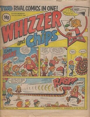 Comic, Whizzer and Chips, top corner torn.