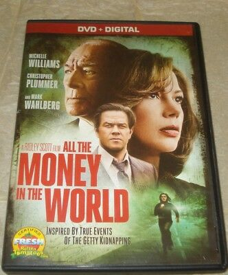 ALL THE MONEY IN THE WORLD (DVD, 2017) Mark Wahlberg - Getty Kidnapping VGC