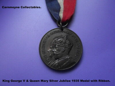 George V & Queen Mary Silver Jubilee Medal with Ribbon. AH5562.