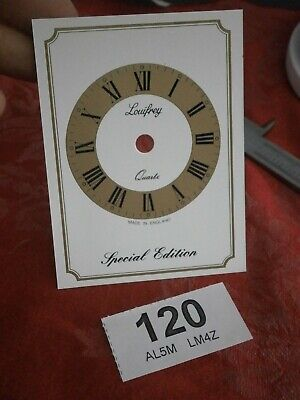 CLOCK DIAL Louifrey Quartz mantle carriage service parts spares movement 120