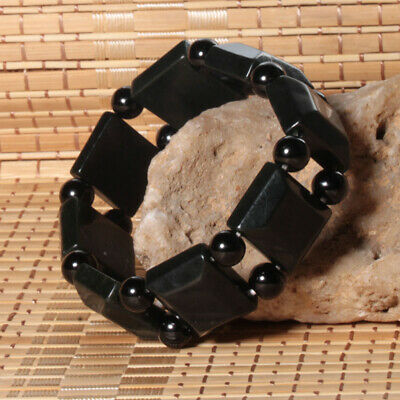 Exquisite Chinese Hetian Gray Jade HandCarved Fashion Hand Chain Bracelet Bangle