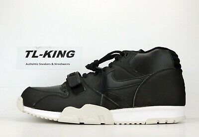 sale retailer 86961 3f2ed Nike Air Trainer 1 Mid Black White 317554 005 BW
