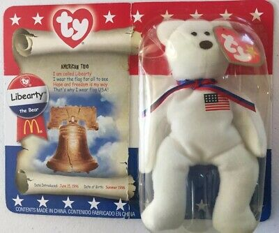 """e8dd0989446 McDonald s Ty Mini """"Liberty"""" Beanie Baby Toy. Brand New In Original Package"""