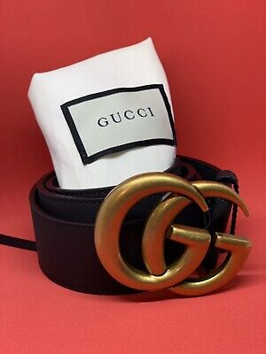 12af81747f7 GUCCI LEATHER  G  Buckle Belt -  160.00