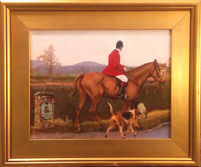 Canvas Painting Print Fox Hunt Horse Hound  Nationally Published Artist