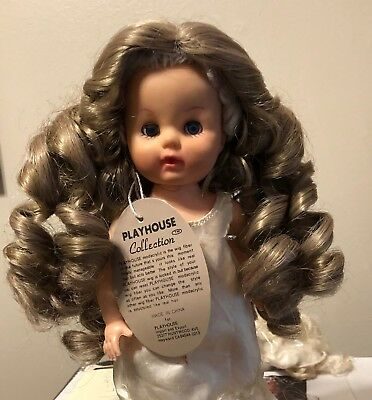 "New Playhouse Collection Doll Wig Blonde Tagged 8-9/"" Style: Emily"