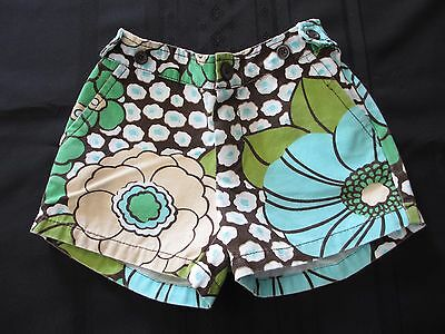 EUC Baby Gap JET SET Shorts Adjustable waist stretch SIZE 5T FLORAL Blue Green