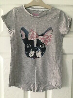 Girls Next Age 8 French Bulldog T-shirt, Excellent Condition