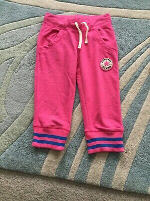 Girls Converse Cropped Joggers Age 8-10 Years Pink - Excellent Condition