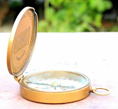Nautical Boy Scouts of America Brass Compass Oath Maritime Vintage Style Gift