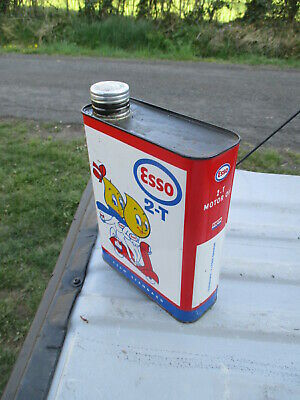 Esso scooter vespa bidon d'huile ancien oil can tin box