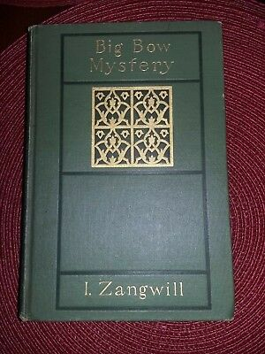 FIRST? The BIG BOW MYSTERY I. Zangwill  ©1895 Rand, McNally & Co. BRENTANO'S Tkt