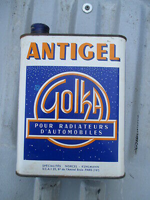 Golka antigel bidon d'huile ancien oil can tin box