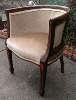 Antique 18th Century Mahogany Tub Library Chair DELIVERY POSSIBLE