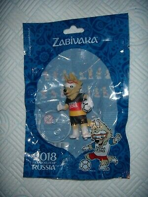FIFA World Cup RUSSIA 2018 Zabivaka Stand Animal Toy Football 6cm Classic Dog