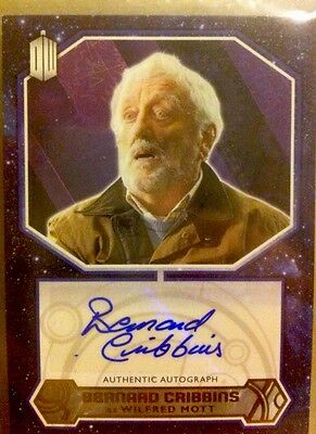 Dr Who TOPPS auto GOLD #1/1  BERNARD CRIBBINS Autograph Card 2015-Not Signature