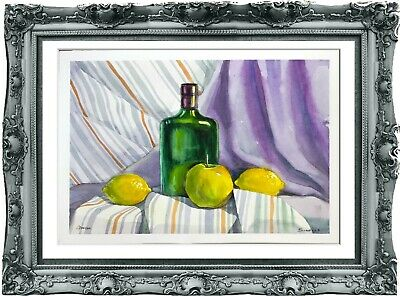 original painting art still life 67ShA peinture originale art A3