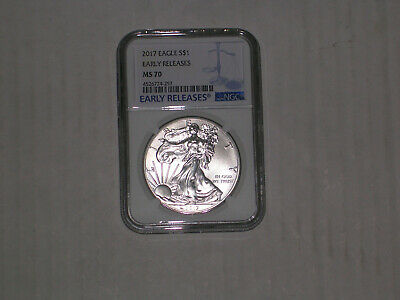 """2017 American Eagle Ngc Ms70 In White Retro Holder """"look"""""""