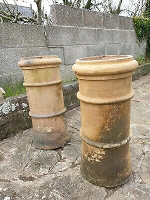 Pair of matching Victorian, vintage  chimney pots