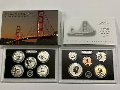 2018 San Francisci Mint Silver Reverse Proof Set, Limited Edition, Remarkable!