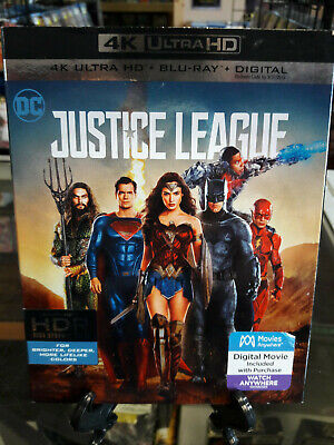 Justice League 4K Ultra HD+Blu-Ray USED WITH SLIPCOVER NO DIGITAL