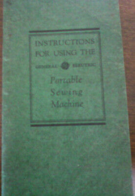 General Electric Portable Sewing Machine Instruction Manual