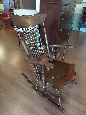 Antique Rocking Chair Commode Walnut  Rocker  c1800s