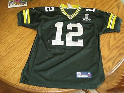 7ac20682365 Aaron Rodgers #12 Green Bay Packers Nike On Field Sewn Super Bowl Jersey  Youth M