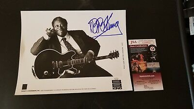 BB King signed 8x10 Promotional Picture JSA COA
